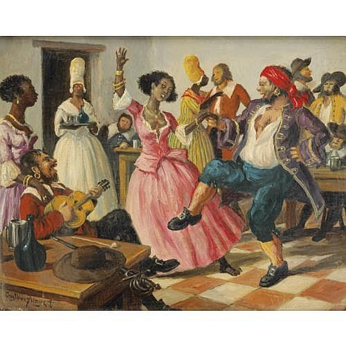 Gustave Alaux Bordeaux 1887 - 1965 Paris , Le flibustier sentimental ; Flibustiers au cabaret