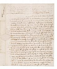 ADAMS, ABIGAIL. AUTOGRAPH LETTER SIGNED TO MRS. HANNAH CUSHING. FEBRUARY 3, 1802.