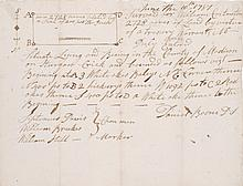 BOONE, DANIEL. LAND SURVEY. MANUSCRIPT SIGNED. 10 JUNE, 1787