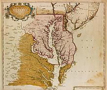 BROWNE, CHRISTOPHER. A NEW MAP OF VIRGINIA, MARYLAND, AND THE IMPROVED PARTS OF PENNSYLVANIA & NEW JERSEY, CA. 1692.