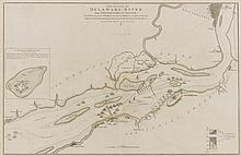 FADEN, WILLIAM. THE COURSE OF THE DELAWARE AND PHILADELPHIA. 30 APRIL 1778
