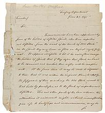 HAMILTON, ALEXANDER. TREASURY DEPARTMENT CIRCULAR TO THE SUPERVISORS OF THE REVENUE, 1791.