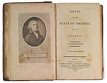 JEFFERSON, THOMAS. NOTES ON THE STATE OF VIRGINIA. BOSTON: 1801