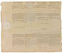 MADISON, JAMES. FOUR-LANGUAGE SHIP'S PAPERS. WASHINGTON, 19 SEPTEMBER 1809