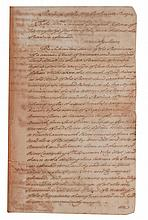 [MASSACHUSETTS BAY] TWO DOCUMENTS RELATING TO A WARRANT, SIGNED BY OLIVER, HANCOCK, ADAMS, WATERHOUSE, ET AL, 1768.