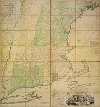 MEAD, BRADDOCK (ALIAS JOHN GREEN) -JEFFERYS, THOMAS. A MAP OF THE MOST INHABITED PART OF NEW ENGLAND, 1774.