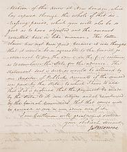 MONROE, JAMES. LETTER SIGNED TO STEVENS T. MASON AND WILSON C. NICHOLAS. RICHMOND, 10 FEBRUARY 1802.