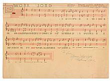 WRIGHT, FRANK LLOYD. WORK SONG