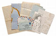 ADER, BAS JAN. COLLECTION OF 10 LOVE LETTERS TO HIS GIRLFRIEND JOAN MCINTURFF. 1961 - 1965