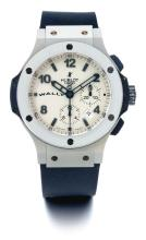 HUBLOT | A COATED STAINLESS STEEL AUTOMATIC CHRONOGRAPH WRISTWATCH WITH DATE<br />CASE 766681 NO 13/500 CIRCA 2009