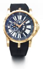 ROGER DUBUIS | AN OVERSIZED PINK GOLD AUTOMATIC WRISTWATCH<br />MVT 02247 NO 32/88 CIRCA 2010