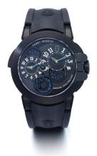 HARRY WINSTON | A LIMITED EDITION ZALIUM AUTOMATIC DUAL TIME ZONE WRISTWATCH WITH DATE<br />CASE 055795 NO 149 PROJECT Z4 DUAL TIME CIRCA 2008