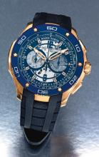 ROGER DUBUIS | AN OVERSIZEPINK GOLD AUTOMATIC CHRONOGRAPH WRISTWATCH WITH REGISTER<br /> NO 2903 PULSION CHRONOGRAPH CIRCA 2010