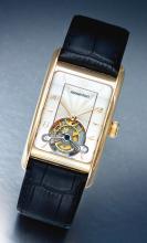 AUDEMARS PIGUET   A FINE PINK GOLD RECTANGULAR TOURBILLON WRISTWATCH<br />REF E42564 NO 20 EDWARD PIGUETCIRCA 2004