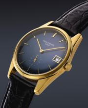 PATEK PHILIPPE | A FINE AND RARE AUTOMATIC 18K YELLOW GOLD WRISTWATCH WITH DATE<br />REF 3558 MVT 1230512CASE 2695351 MADE IN1971