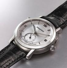 AUDEMARS PIGUET   A FINE AND LIMITED EDITIONPLATINUMMINUTE REPEATING GRANDE AND PETITE SONNERIE WRISTWATCH<br />CASE D94770GRANDE SONNERIE CARILLON CIRCA 2010
