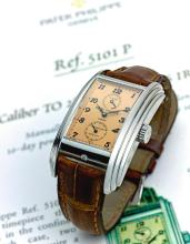 PATEK PHILIPPE | A FINE AND RARE PLATINUM RECTANGULAR TOURBILLON WRISTWATCH WITH TEN-DAY POWER RESERVE<br />REF 5101P MVT3361252CASE 4353971MADE IN 2006