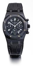 AUDEMARS PIGUET   A LIMITED EDITIONPVD-COATED STAINLESS STEELAUTOMATIC CHRONOGRAPH WRISTWATCH WITH DATE<br />CASE F 02735ROYAL OAK LA BOUTIQUE 40 E. 57TH NEW YORK EDITION CIRCA 2003