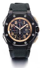 AUDEMARS PIGUET   A VERY FINE AND RARE TITANIUM CERAMIC AND PINK GOLD AUTOMATIC CHRONOGRAPH WRISTWATCH WITH DATE<br />CASE H 18937ROYAL OAK OFFSHORE ARNOLD SCHWARZENEGGER THE LEGACY CHRONOGRAPH NO 0469/1500 CIRCA 2011