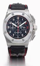 AUDEMARS PIGUET   A FINE ANDRARESTAINLESS STEEL AUTOMATIC CHRONOGRAPH WRISTWATCH WITH DATE<br />CASE G 08313NO 784/960 ROYAL OAK OFFSHORE SHAQUILLE O' NEAL CIRCA 2007