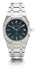 AUDEMARS PIGUET   AFINE STAINLESS STEELAUTOMATIC WRISTWATCH WITH DATE<br />CASE NO 407ROYAL OAK CIRCA1980