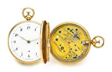 FRÈRES MELLY   A GOLD QUARTER REPEATING WATCH WITH JUMPING HOUR<br />NO 3104 CIRCA 1830