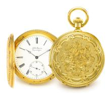 H.R. EKEGREN   A VERY FINE YELLOW GOLD HUNTING CASED WATCH<br />NO 16564 CIRCA 1910