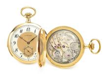 TOUCHON   A GOLD OPEN FACED MINUTE REPEATING WATCH<br />NO 134791 CIRCA 1910