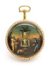 SWISS THE COOPERS   AN UNUSUAL GOLDAUTOMATONWATCH <br />NO 239 CIRCA 1810