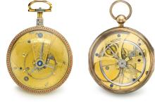 SWISS   A LOT OF TWO GOLD SILVER AND ENAMEL WATCHES WITH POUZAIT TYPE LEVER ESCAPEMENTS<br />CIRCA 1790