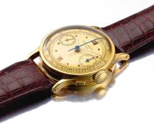 PATEK PHILIPPE | A FINE YELLOW GOLD CHRONOGRAPH WRISTWATCH WITH REGISTER <br />REF 533 MVT 868151CASE 667611MADE IN1951