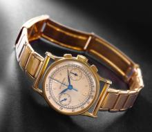 PATEK PHILIPPE | A FINE 18K YELLOW GOLD CHRONOGRAPH WRISTWATCH WITH REGISTER<br />REF 533 MVT 867127CASE 646824MADE IN 1947