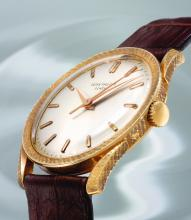 PATEK PHILIPPE | A RARE PINK GOLD CENTER SECONDS WRISTWATCH<br />REF 2586 MVT 711660 CASE 423796 MADE IN 1965