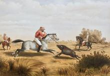 CARPENTER. HOG HUNTING IN LOWER BENGAL. 1861