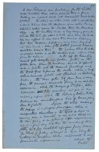 JOHN BURNS. MANUSCRIPT MEMOIR OF HIS NAVAL SERVICE. 1830S-40S