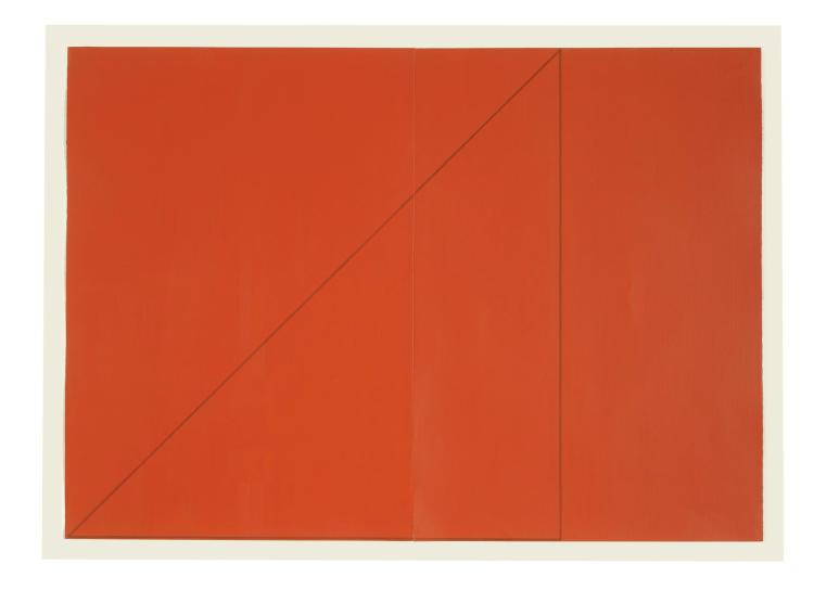 ROBERT MANGOLD | A Triangle Within Two Rectangles (Red)