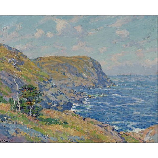 Charles Ebert 1873-1959 , Black Head, Monhegan Island oil on canvas