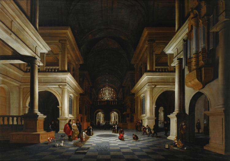 ANTHONIE DE LORME | The interior of a Renaissance-style church