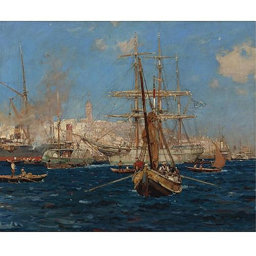 u - Sir Frank Brangwyn, R. A. , The Golden Horn, Constantinople