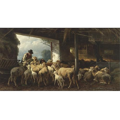 Christian Friedrich Mali , Feeding the Sheep