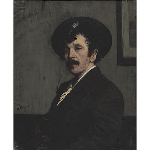 u - Walter Greaves , Portrait of James Abbott McNeill Whistler
