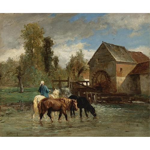 Constant Troyon , Watering the Horses