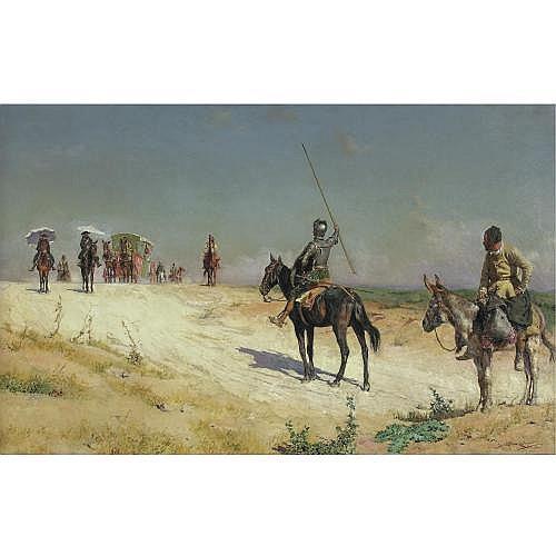 José Moreno Carbonero , Don Quixote Halting the Caravan
