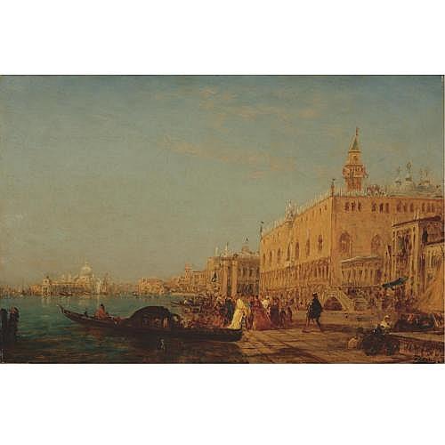 u - Félix Ziem , La Gondole, quai des Esclavons