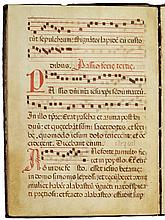 PASSION CHOIRBOOK FOR HOLY WEEK, IN LATIN [SPAIN OR MAJORCA, 16TH(?) CENTURY] |