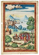 A SACRIFICE, FULL-PAGE MINIATURE [ITALY, C.1540] |