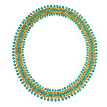18 KARAT GOLD AND TURQUOISE NECKLACE, TIFFANY & CO., ITALY