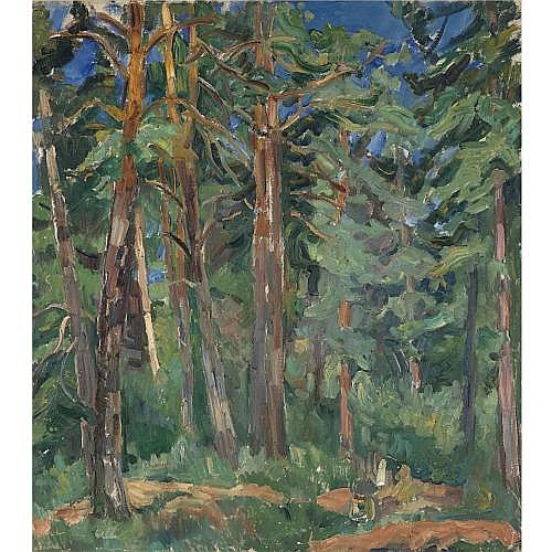 f - Nadezhda Andreevna Udaltsova, 1885-1961 , forest