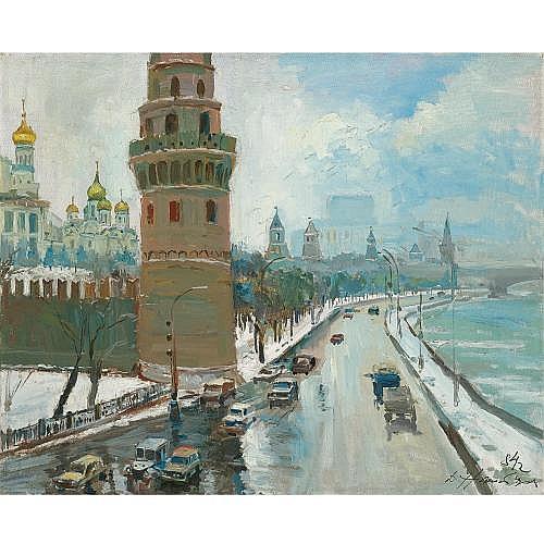 f - Dmitri Nalbandian, 1906 - 1993 , Kremlevskaya Embankment