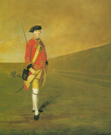 EDWARD PENNY, R.A. (1714-1791) PORTRAIT OF AN OFFICER OF THE CORNWALL MILITIA (C. 1760)